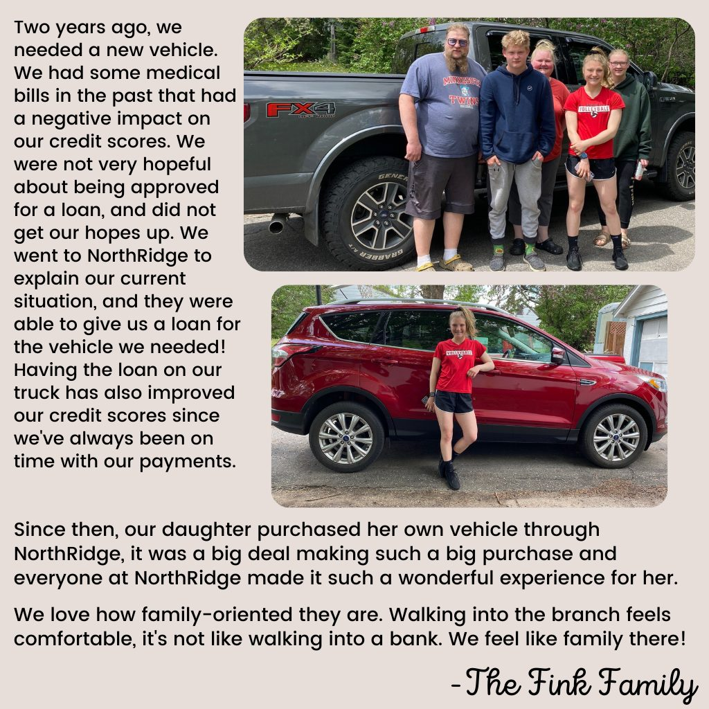 Fink Family story with text and photos