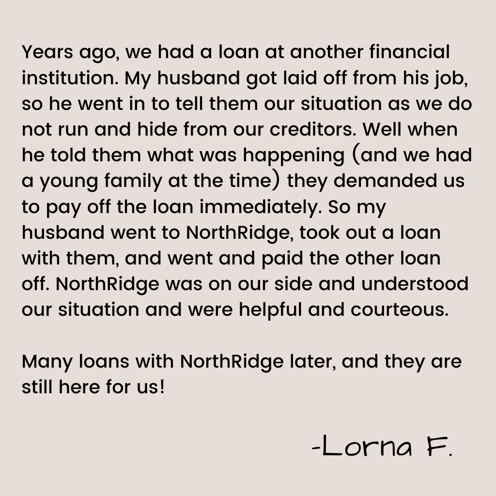Lorna's Member Story