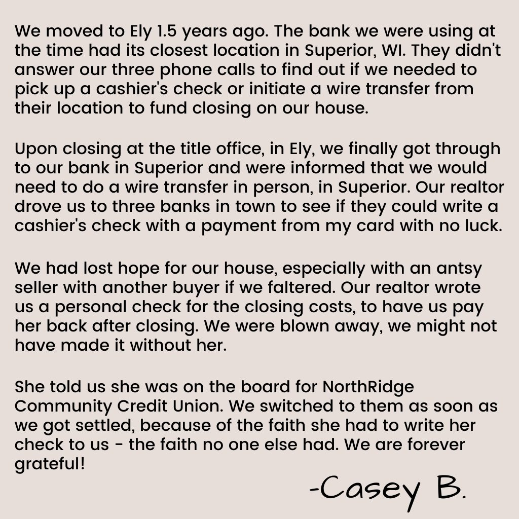 NorthRidge Member Story from Casey